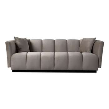 Herbie Three Seat Sofa - Taupe (H73 x W221 x D91cm)