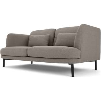 Herman 2 Seater Sofa, Manhattan Grey (H78 x W167 x D94cm)