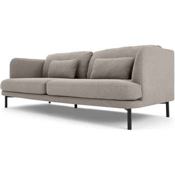 Herman 3 Seater Sofa, Manhattan Grey (H78 x W213 x D94cm)