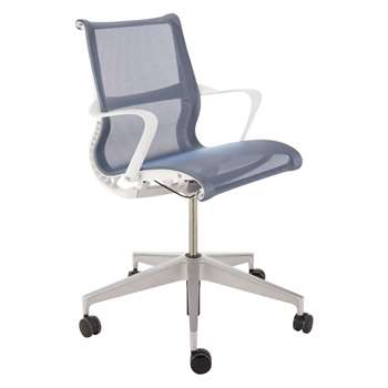 Herman Miller Setu Multi Purpose Chair, Blue (H94.5 x W64 x D44cm)