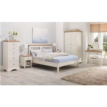 Heronford Oak and Ivory Double Bed Frame