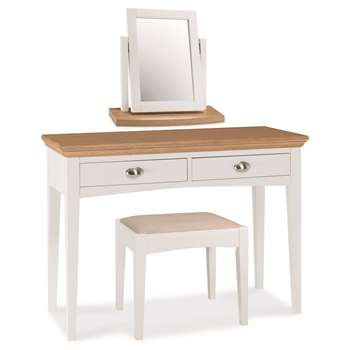 Heronford Oak and Ivory Dressing Table Set (Width 110cm)