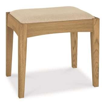Heronford Oak Dressing Table Stool (H46 x W50 x D38cm)
