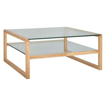 Herrmann Square glass coffee table (Width 80cm)
