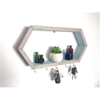 Nouvelle ere - Hexagon Floating Key Holder Shelf (H24 x W49 x D7cm)