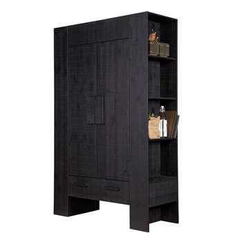Hidde Scandinavian Storage Cabinet in Black 185 x 116cm