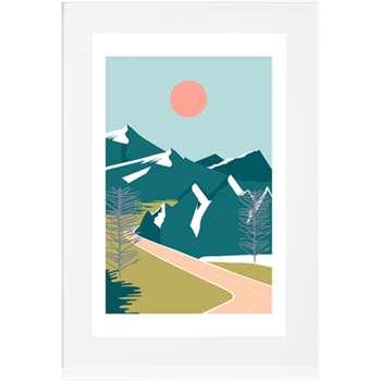 Highway Landscape, Framed Print (75 x 55cm)