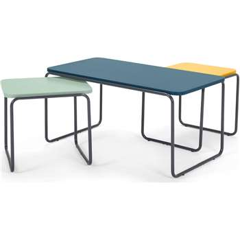 Hill Coffee and 2 x Nesting Side Tables, Multicolour (44 x 90cm)