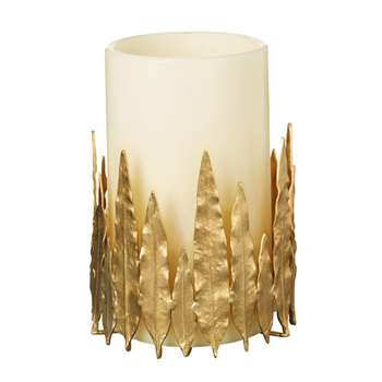 Hippolyta Candle Holder - Gold (18 x 20cm)