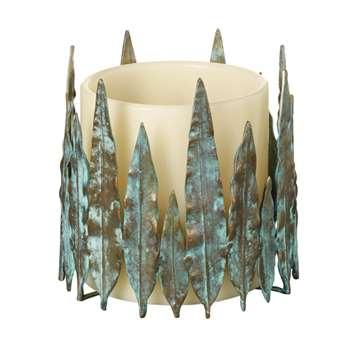 Hippolyta Candle Holder - Verdigris (18 x 20cm)