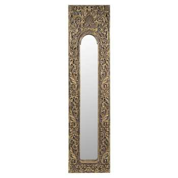 HOA golden resin trumeau mirror (178 x 44cm)