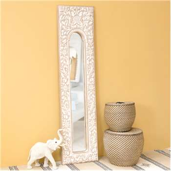 HOA resin trumeau mirror in white H 178cm