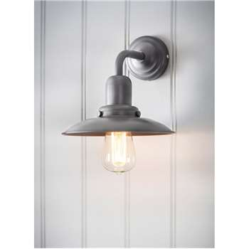 Hobury Wall Light in Charcoal - Steel (21.3 x 9cm)