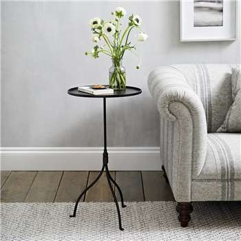 Holkham Side Table, Black (H70 x W40 x D40cm)