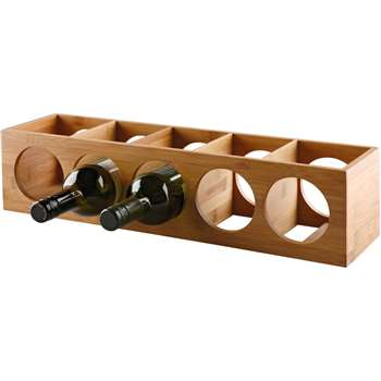 HOME 10 Bottle Bamboo Wine Rack