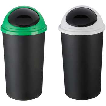 HOME 25 Litre Recycle Bin Twin Set 59.5 x 32cm