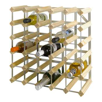 HOME 30 Bottle Wooden Wine Rack