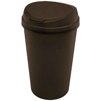 HOME 45 Litre Touch Top Bin - Black (67 x 39cm)