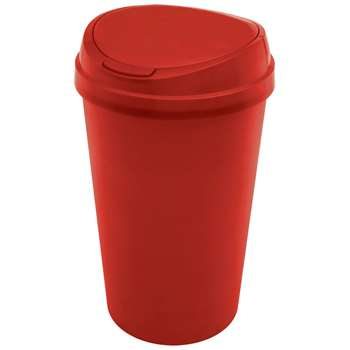 HOME 45 Litre Touch Top Kitchen Bin - Red (67 x 39cm)