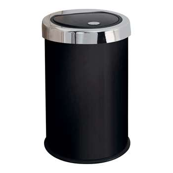 HOME 50 Litre Touch Top Kitchen Bin - Black 63 x 37cm
