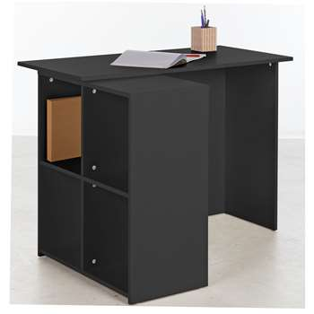 HOME Calgary Corner Desk - Black (73 x 99.6cm)