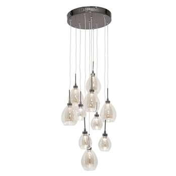 Home Collection Caroline Clear and Champagne Glass LED Cluster Light (91.5 x 30cm)