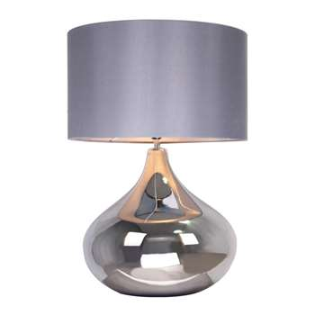 Home Collection claire Table Lamp, Pale Grey (57 x 40cm)