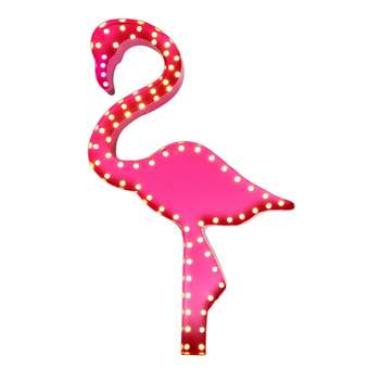 Home Collection - Flamingo Marquee LED Metal Wall Light (59 x 37cm)