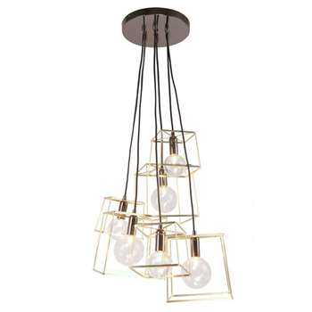 Home Collection - Gold Harrison Cluster Ceiling Light (H102 x W52 x D52cm)