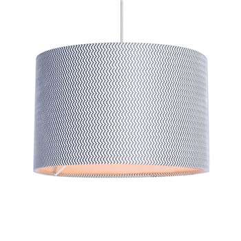 Home Collection - Grey Textured Lamp Shade (H20 x W30 x D30cm)