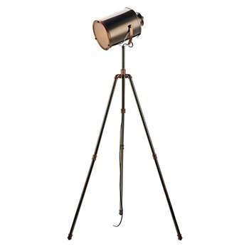 Debenhams - Jake Nickel and Copper Tripod Floor Lamp (H163 x W71cm)