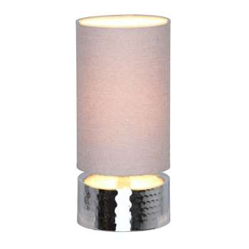 Home Collection - Lottie Silver Hammered Metal Touch Lamp (28 x 14cm)