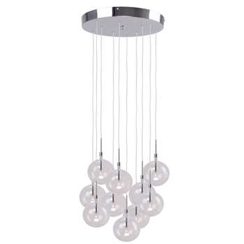 Home Collection Lucy Clear Glass Cluster Light (100 x 45cm)