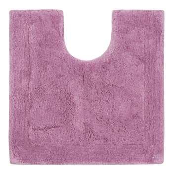 Home Collection - Mauve Cotton Tufted Pedestal Mat (51 x 51.5cm)