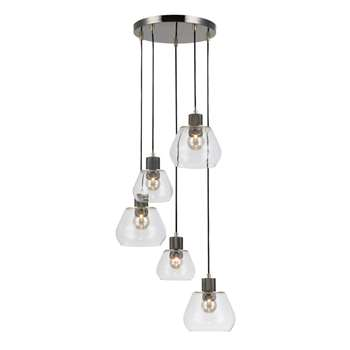 Home Collection Piper Gunmetal and Gold Metal Cluster Light (105 x 30cm)