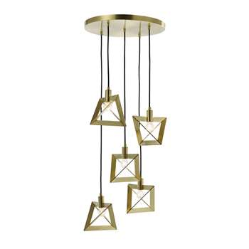 Home Collection Tyler Gold Metal Cluster Light (102 x 43cm)