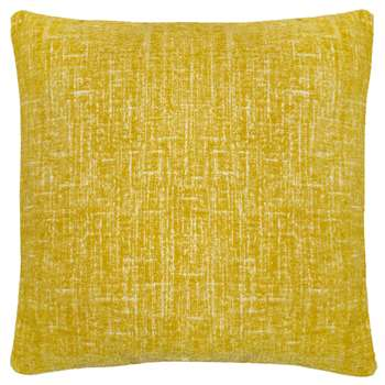 Home Collection Yellow Textured Cushion (48 x 48cm)