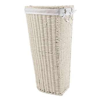 HOME Corner Linen Bin - White 61 x 36cm