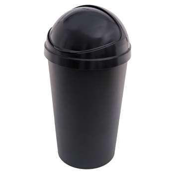 HOME Curver 50L Bullet Bin - Black 70 x 39.5cm