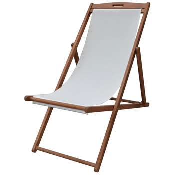 HOME Deck Chair - Cream (92.5 x 59cm)