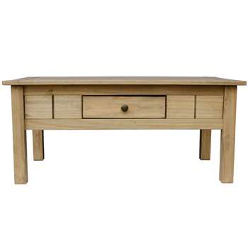 Home Discount - Panama 1 Drawer Coffee Table, Natural Oak (44 x 100cm)