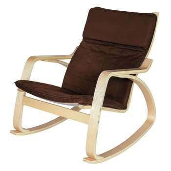 HOME Fabric Rocking Chair - Chocolate (83 x 67cm)