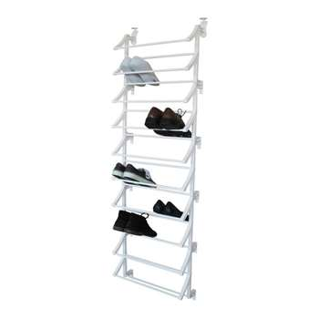 HOME Hanging 10 Shelf Shoe Storage Rack - White (165 x 50cm)