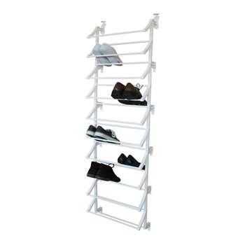 HOME Hanging 10 Shelf Shoe Storage Rack - White (165 x 50cm)