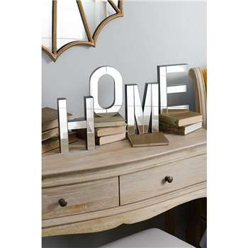 HOME Large mirrored freestanding or wall decorative letters (20 x 13cm)