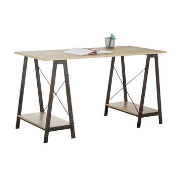HOME Large Trestle Table - Desk (75 x 140cm)