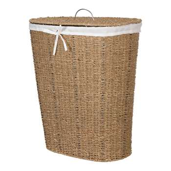HOME Laundry Basket - Natural Seagrass 56 x 48cm