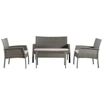 Argos Home Lucia 4 Seater Garden Sofa (H76.5 x W114.5 x D71.5cm)