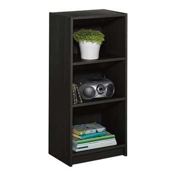 HOME Maine Half Width Small Extra Deep Bookcase - Black Ash 91.5 x 42cm