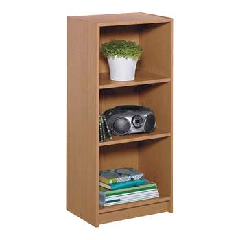 HOME Maine Half Width Small Extra Deep Bookcase - Oak Effect 91.5 x 42cm